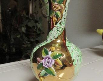 Exquisite Vintage Pereiras Valado Porcelain Vase Made Portugal
