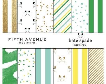 Kate Spade Inspired - The Fun Collection - Digital Paper