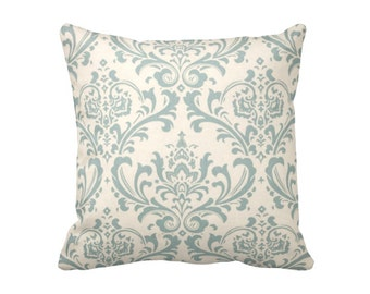 Blue Throw Pillow Cover Decorative Pillow for Couch Blue Pillow Cover Blue Damask Pillow Beige Pillow Baby Blue Pillow Blue Pillowcase
