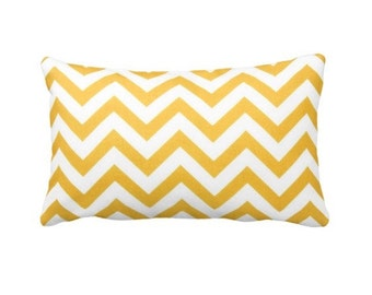 7 Sizes Available: Euro Pillow Cover Decorative Throw Pillow Cover Decorative Pillow Yellow Pillow Chevron Pillow Yellow Chevron Pillow