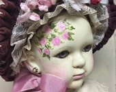 "Hand Painted Vintage Altered Bisque Doll ""Francee"" Stunning!"