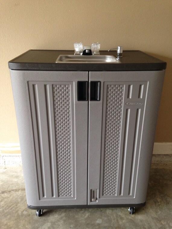 r cepteur portable lectrique autonome evier avec eau. Black Bedroom Furniture Sets. Home Design Ideas