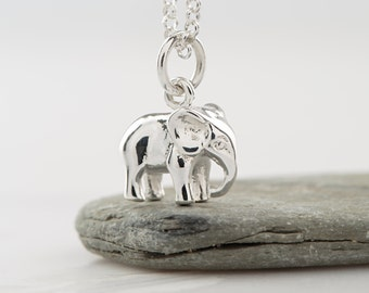 Sterling Silver Elephant Charm Necklace, Good Luck Gift, Elephant jewelry, Elephant Necklace, Gifts for Animal Lovers, Personalised Gifts