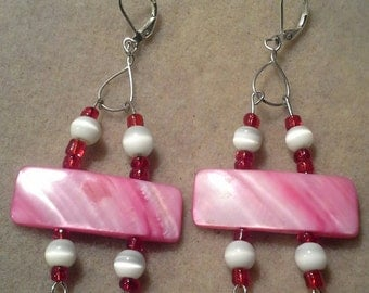 Handcrafted Pink Mother of Pearl Shell Bead