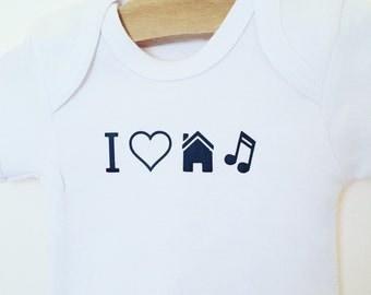 I love House music bodysuit