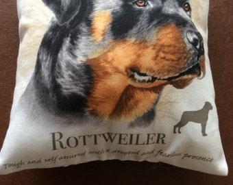 Rottweiler mini cushion