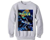 Space Jam dream team jordan retro magic bird barkley tshirt vintage spike lee bulls - fleece sweatshirt sweater ash grey