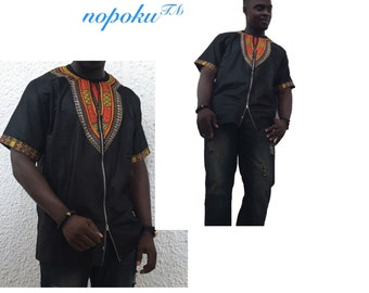 African Men's Shirts, Men's dashiki top, Ankara male shirt,Men's shirts, Kitenge male top,African Clothing, Gift, Angelina,African Print top