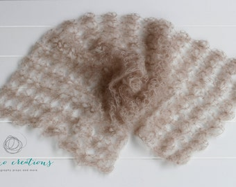 Blossom Mohair Wrap - Newborn Photography Prop- Made to Order