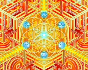 """18x12in Digital Print of """"Elemental Synchronization"""""""