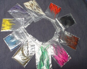 10 Assorted Colors of North American Porcupine Quills over 1/2 ounce PQ611