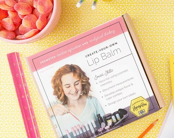 Lip Balm Kit: Make 8 unique lip balms! Decorate and formulate yourself while learning about the science behind the making!