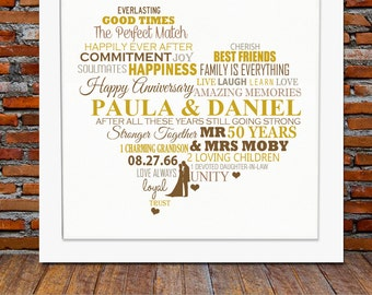 Best Gift For Parents 50th Wedding Anniversary : ... wedding anniversary, 50th wedding anniversary gift, 50th anniversary