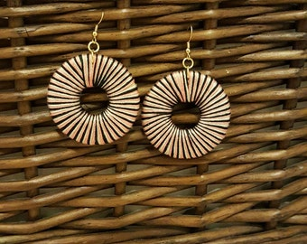 Multi color dangle thread earrings