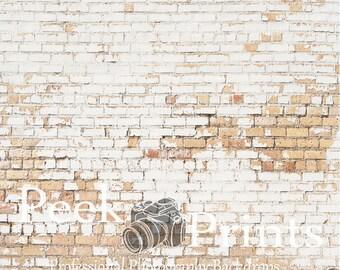 6ft.x6ft. Khaki Brick Photography Backdrop -  Brick Wall Photography Prop
