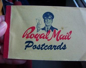 Vintage blank postcards. Royal Mail Postcards. Book of 4