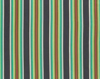 Tula Pink Chipper Tick Tock Stripe Mint, cotton fabric