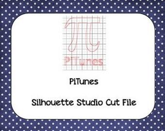 PiTunes Pi Day Silhouette Cut File