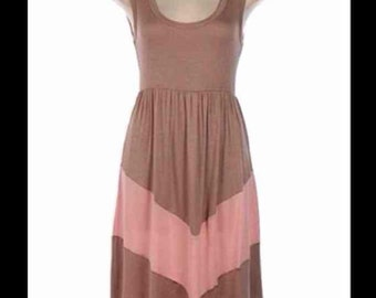 Taupe and Dusty Pink Dress
