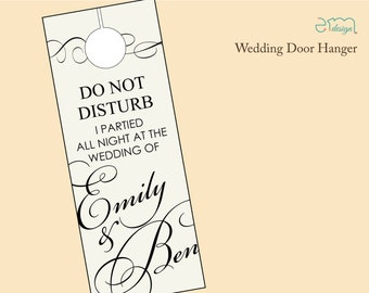 Wedding Guest Door Hanger, Guest Door Hanger, Wedding Hotel, Wedding Guest Gift, Welcome Door Hanger, Welcome Gift, Wedding Favor Doorhanger
