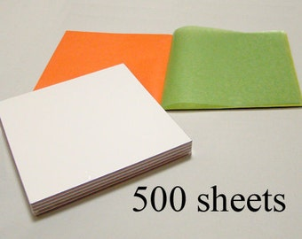 500 sheets Translucent Wax Paper for making Waldorf Stars | Window Stars | Sun Catchers | 5 packs of 100 sheets | 6.25 inch squares