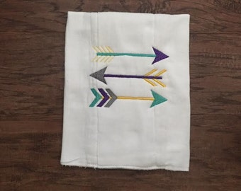 Burp Cloth. Baby Burp Cloths. Cloth diaper Burp /single diaper/Tribal Arrows - Baby Shower- Baby Gift. Newborn
