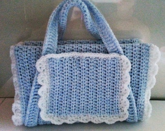 Crochet Bible Book Cover Tote Bag