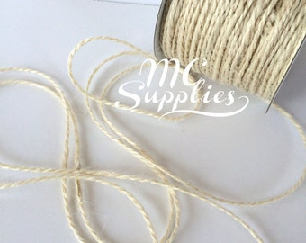 3 yards 1.5mm jute cord,colored jute twine,burlap twine,burlap cord,embellishment,hair bows,scrapbooking,weddings,card making,home decor,139