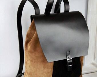 "LEATHER 13"" LAPTOP BACKPACK, MacBook bag, backpack, leather backpack, leather bag, leather rucksack"