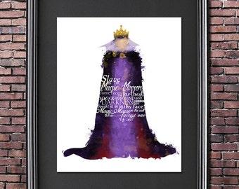 Evil Queen 8x10 Disney VILLAIN POSTER -- Digital Download / Instant Download / Printable / Snow White