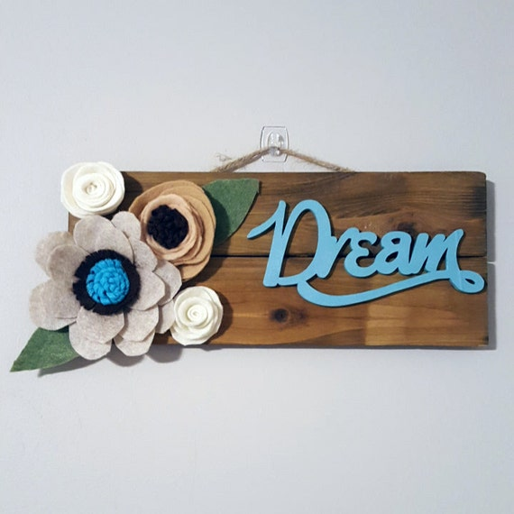 Dream Wood Wall Decor : Dream wood pallet wall decor by angelphish on etsy