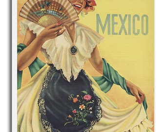 Vintage Art Mexico Travel Poster Print Canvas Hanging Wall Decor xr540