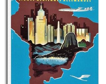 South America Print Vintage Travel Poster Retro Home Decor Art xr941