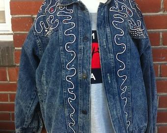 vintage jeans jacket large women