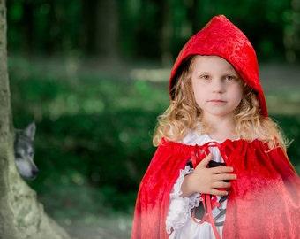 Boutique custom handmade pageant girls Halloween Costume Little Red Riding Hood costume