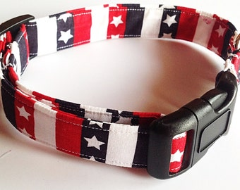 Patriotic Stars and Stripes Dog and Cat Collar