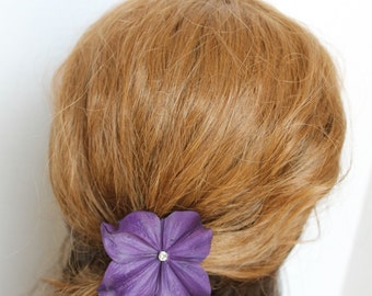 Wedding Hair Pin  Plum Hair Pin Wedding Hair Accessories Bridal Headpiece Plum Hydrangea Pin
