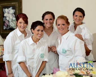 DIY, Bridesmaid Shirts, Wedding Shirts, Monogram Oxford, Bridal Party Shirts, Bridesmaid Gift, Wedding Monogram, Wedding Day Shirt,