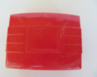 Plastic Soap Dish - Travel Soap Dish Vintage Red