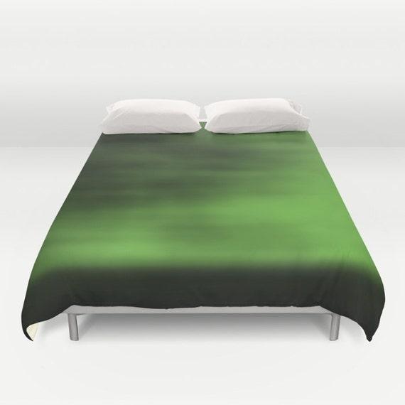 green duvet cover queen comforter cover blurred sky king. Black Bedroom Furniture Sets. Home Design Ideas