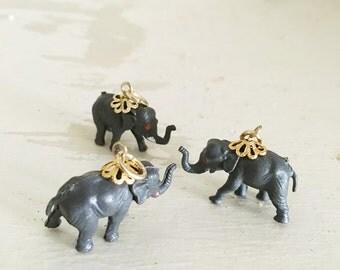 Vintage - Three Small Plastic Elephants - 1970's - Republican - Election