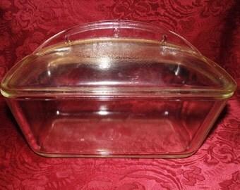 1950s Westinghouse Glass Lidded Loaf Pan