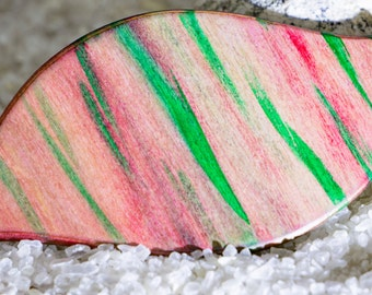 coloured wooden hair clip, hair accessories, hair clip