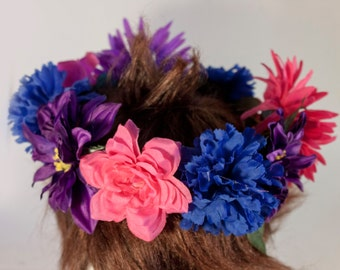 BISEXUAL Themed Flower Crown (fits most adult sized heads)