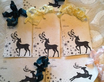 Christmas tags-flower seeded