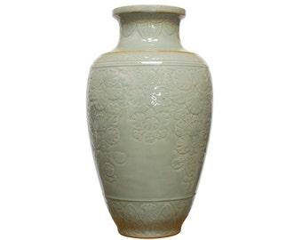 Chinese Longquan Style Celadon Vase
