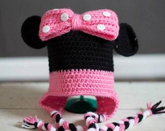 Minnie Mouse Crochet Hat