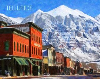 Colorado Poster Telluride Print Colorado Decor Skiing Poster Wall Art Home Decor Fine Art Print #vi465