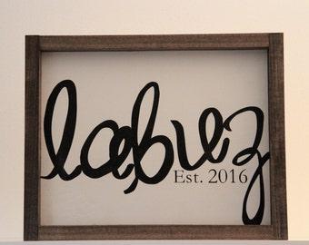 Wedding Sign; Family Sign; Established Sign