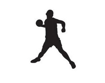 Dodgeball Player Sticker Silhouette - Car/Truck/Home/Laptop/Computer/Phone Decal